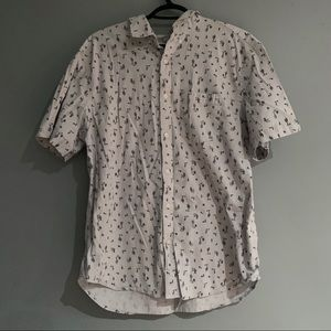 Men's cactus print shirt sleeve button down
